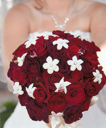 Red Roses and Stephanotis