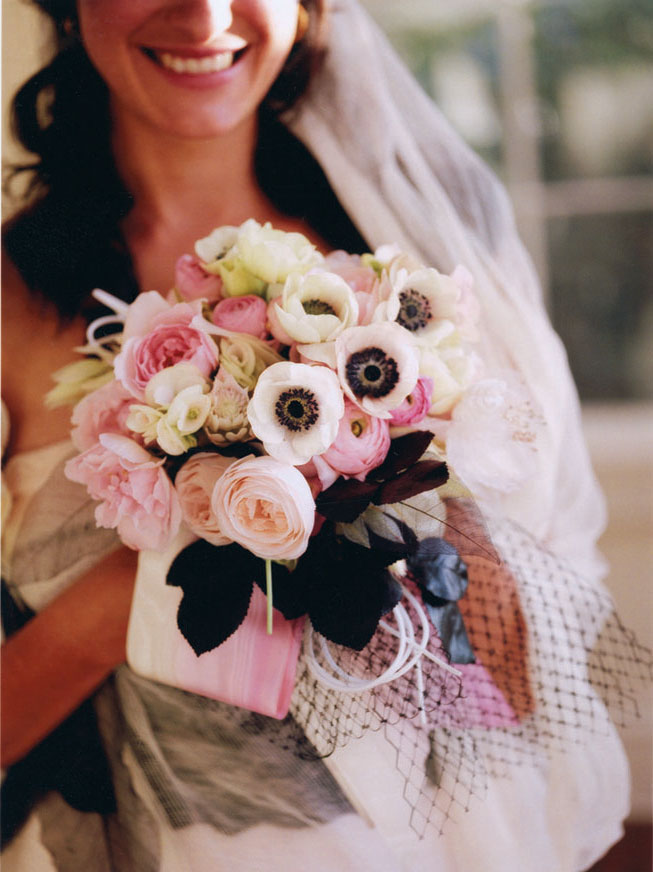Pink Ranunculus and Anemones