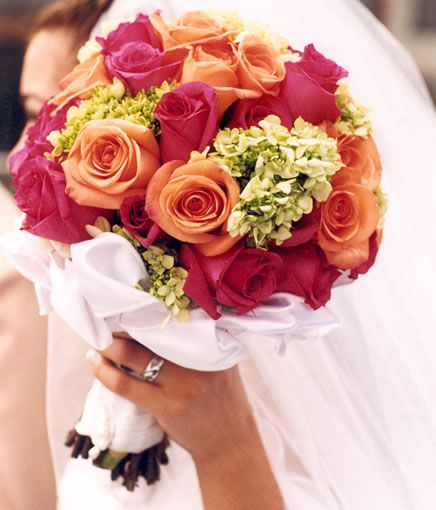 Pink and Orange Roses Idea