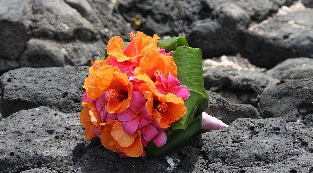 Bright Orange and Pink Bouquet