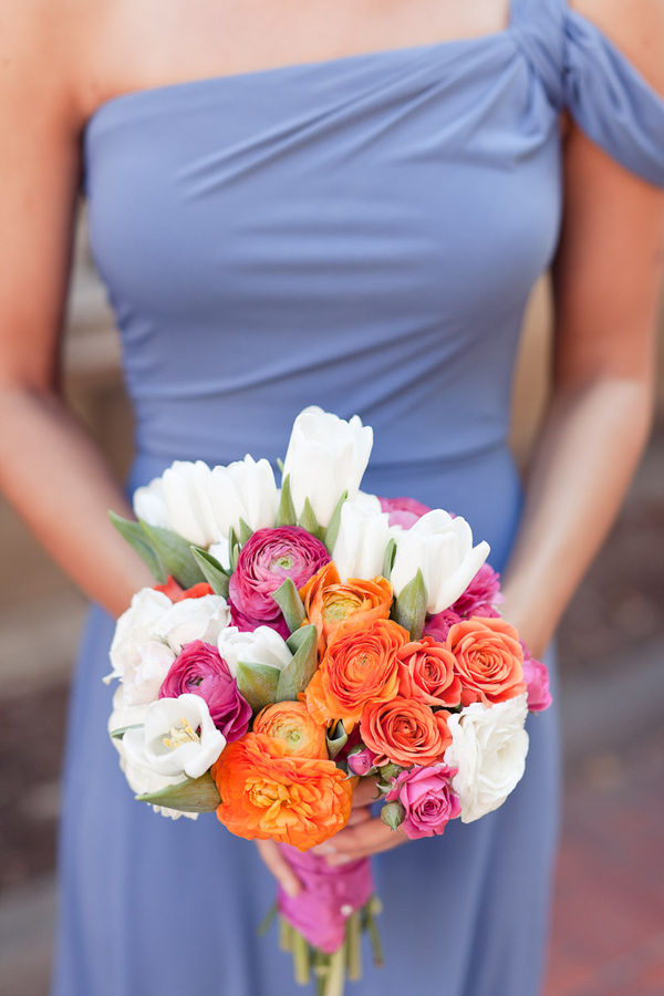 Tulips and Ranunculas for the Bridesmaids