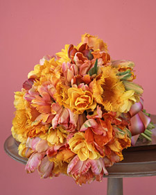 Orange and Pink Tulip Bouquet