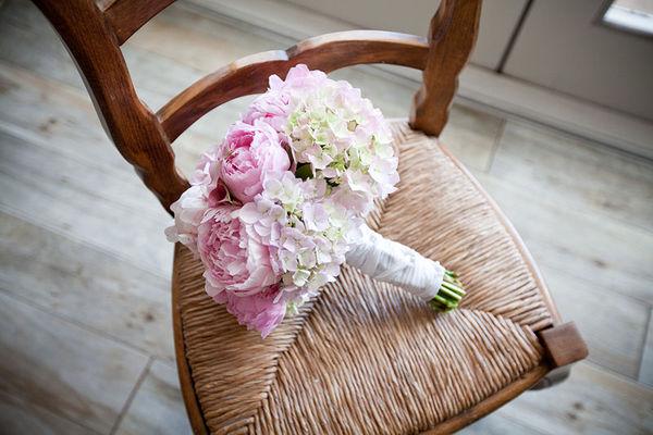 Pink Peonies and Hydrangeas