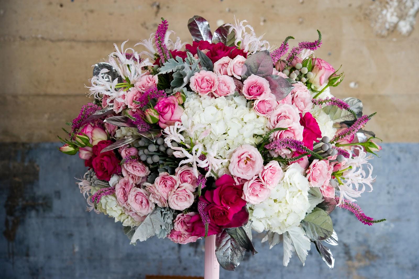 Gorgeous in pink bouquet wedding flower