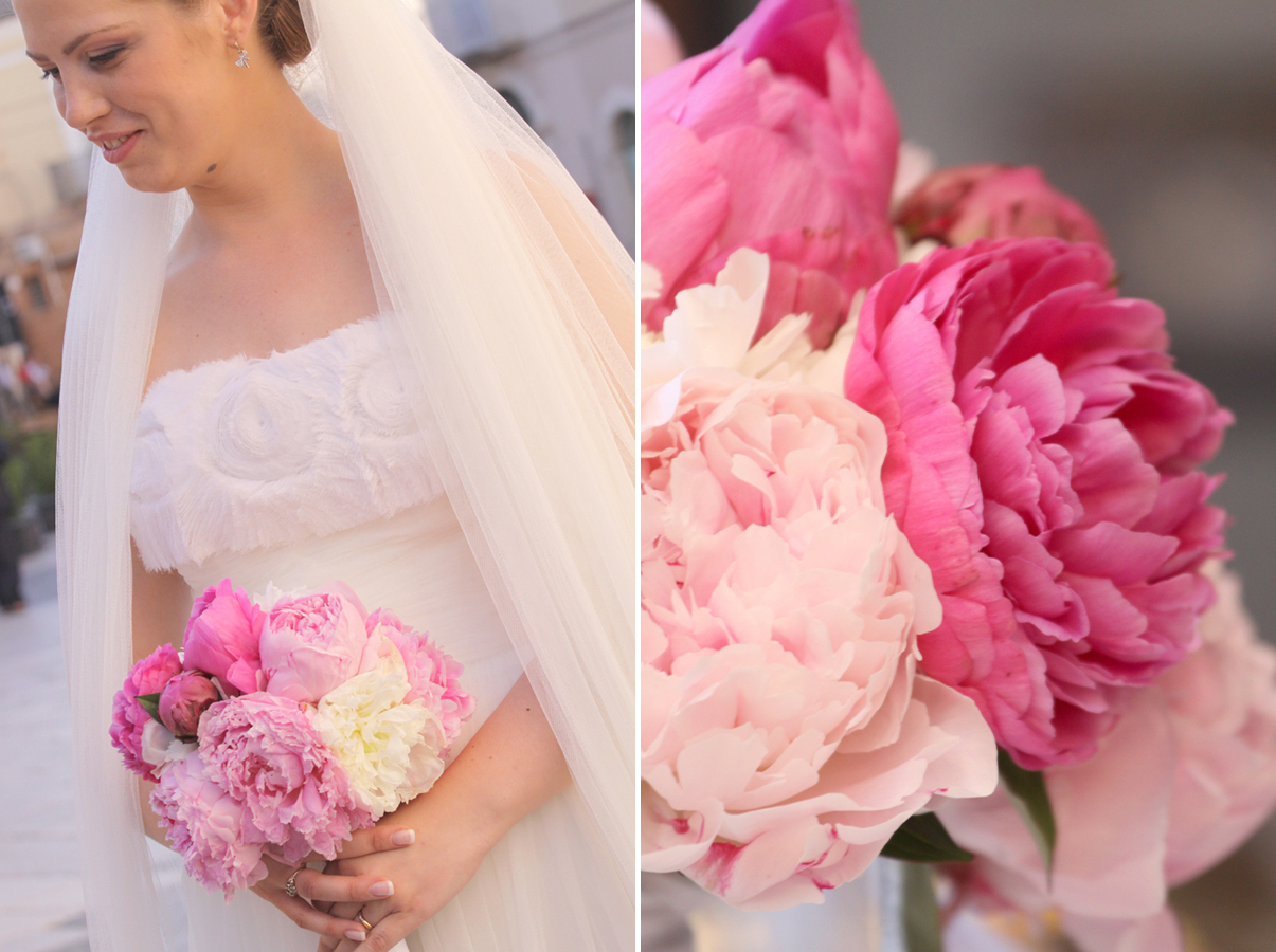 Peonies In White And Pink