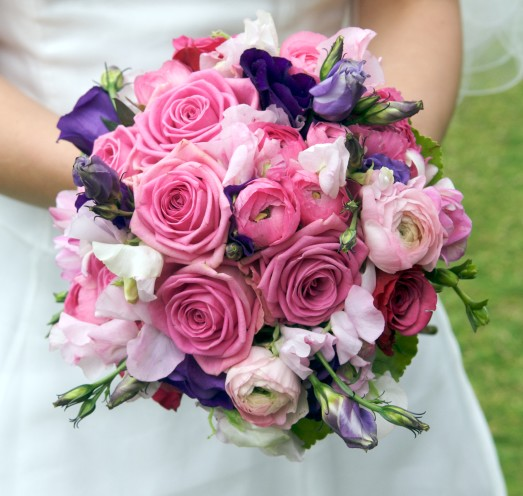 Pink and Purple Round Bouquet