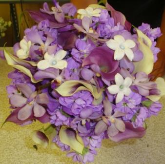 Purple and White Flowers Bouquet