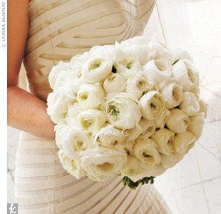 White Rununculus Bouquet