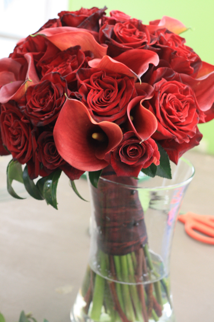 Roses and Callas in Red