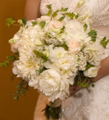 White Peonies and Roses