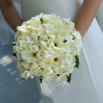 White Bouquet for Bride
