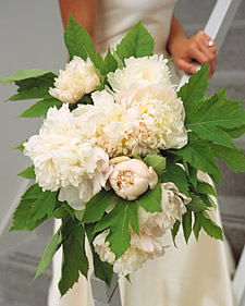 White Peonies Bridal Bouquet