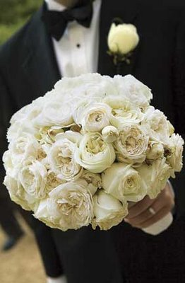 Fluffy White Ranunculus Bouquet