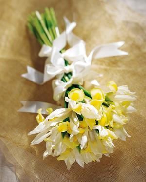 Yellow Irises Wedding Bouquet