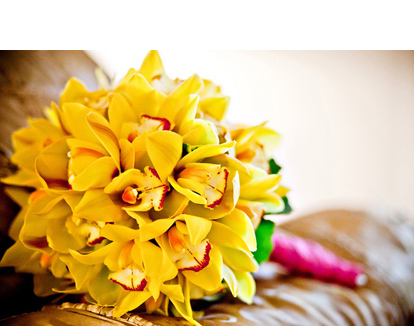 Bright Yellow Orchids Bouquet