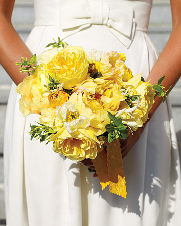 Yellow Peonies Bouquet