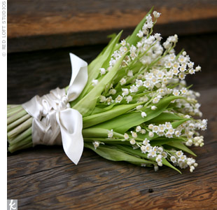 bouquet made of Lily of the Valley