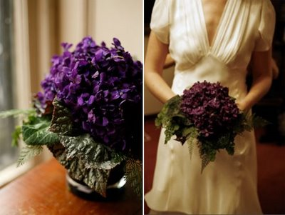 bouquet made of violets