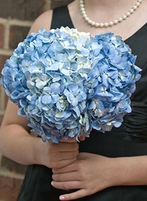 Blue For The Bridesmaid Hydrangea Bouquet