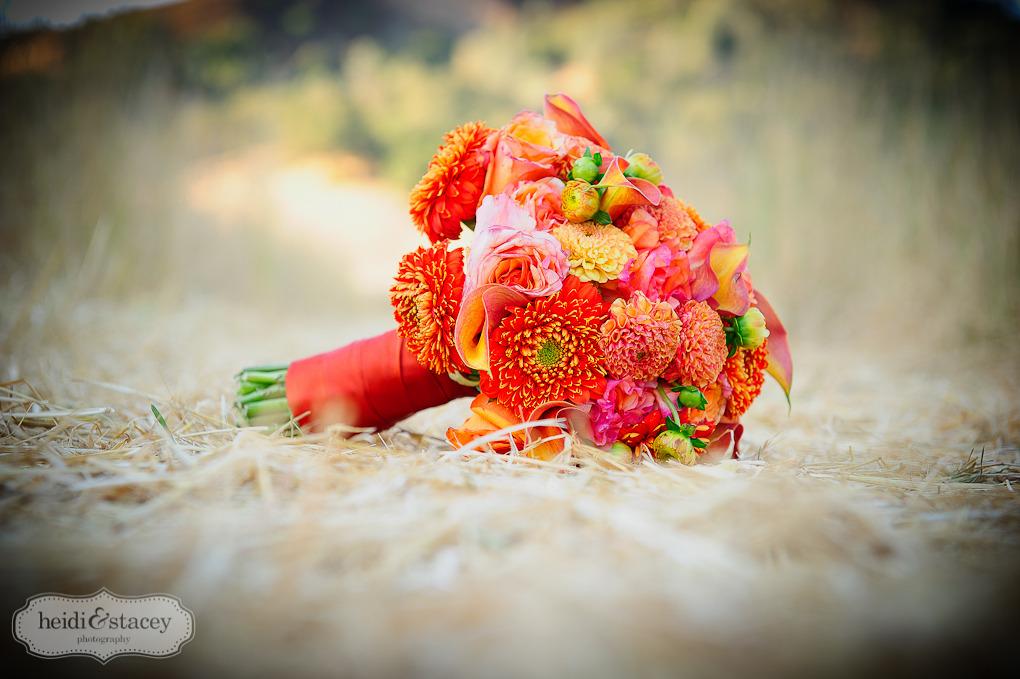 bright orange bouquet