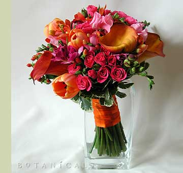 Tulip Pink Flowers on Bouquet Wedding Flower    Bouquet Wedding Flower