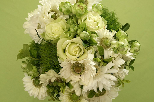 white green bouquet