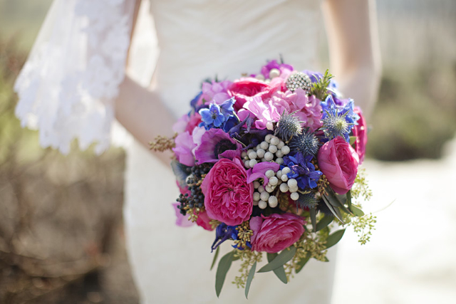 Wedding Bouquet Pink Blue : Pink and blue wedding flower bouquets images