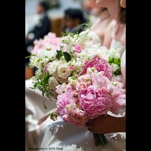 Pretty Pink Wedding Bouquets