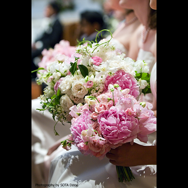 Pretty Pink Wedding Bouquets