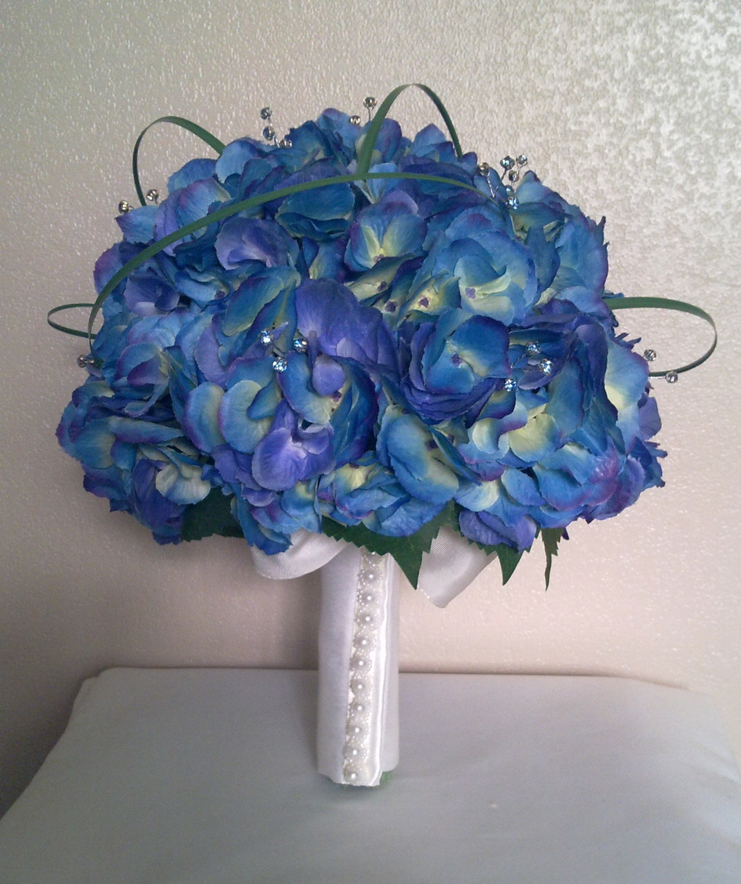 Beautiful blue bridal bouquet bouquet wedding flower for Best flowers for wedding bouquet