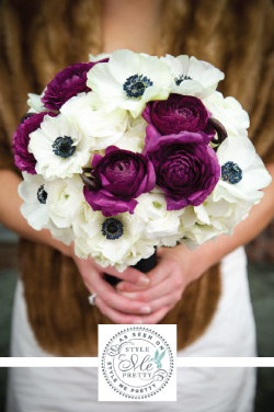 anemones bridal bouquet