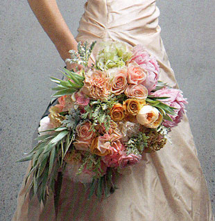 A Pastel Cascading Bouquet