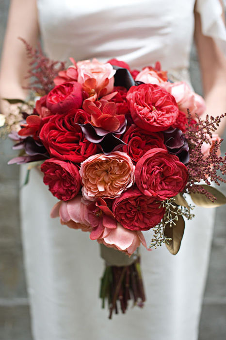 Play on Red - Bouquet Wedding Flower