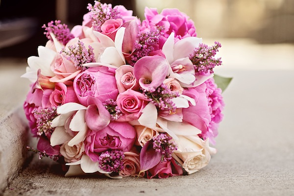 Pink assortment bouquet bouquet wedding flower pink mightylinksfo