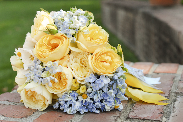 Butter Yellow and Blue Bouquet