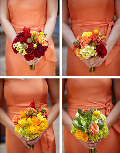 Fall Wedding Bridesmaid Flowers