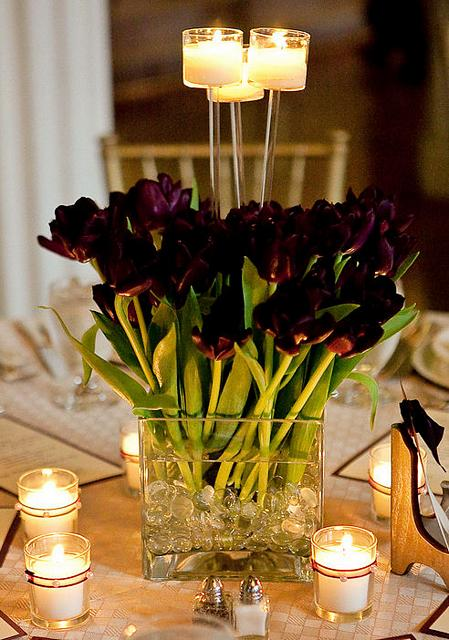 Candles Tulip Wedding Centerpieces 2 Bouquet Wedding Flower