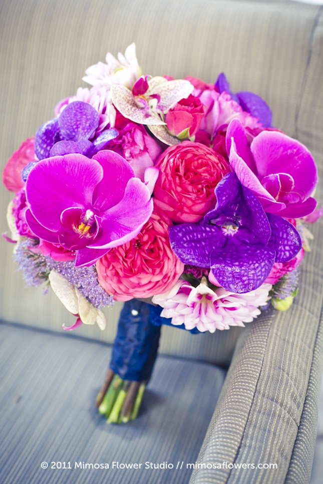 wedding bouquets blue