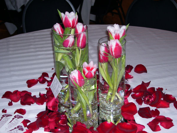 Darcee s pink freesia wedding centerpieces homemade