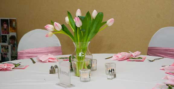Wedding Centerpieces Pink Tulips Bouquet Wedding Flower