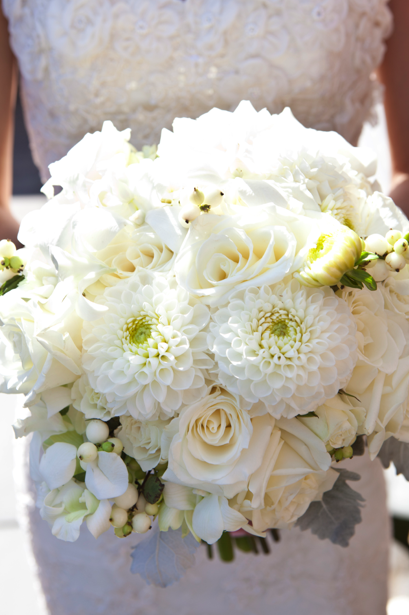 white-roses-dahlia-bridal bouquet