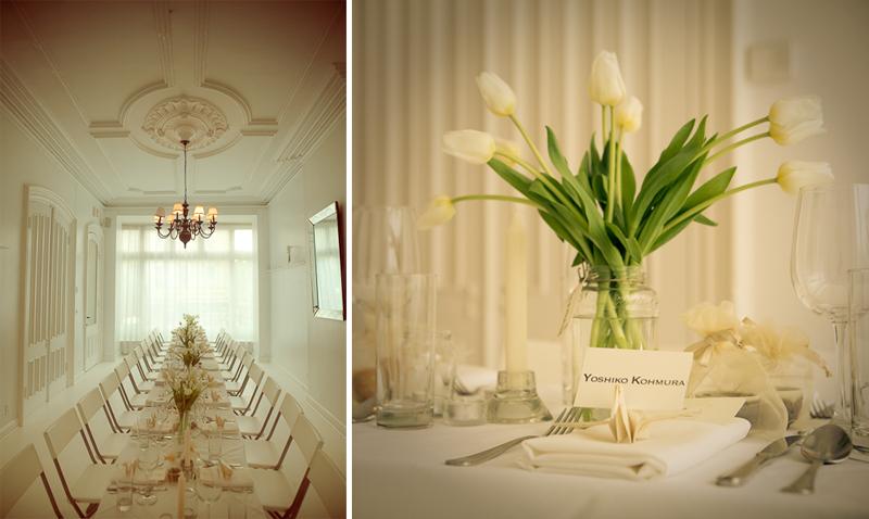 White Tulip Wedding Centerpiece Bouquet Wedding Flower