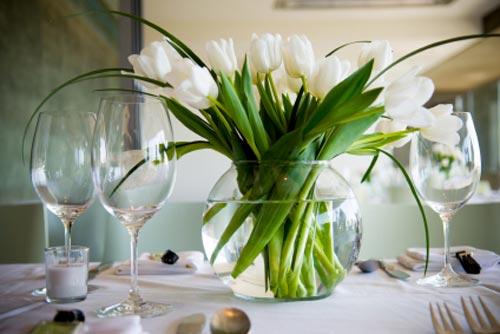 White Tulip Wedding Centerpieces Bouquet Wedding Flower