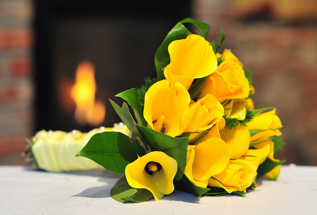 Yellow Callas and Roses