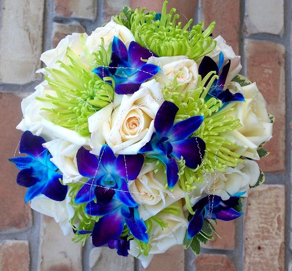 blue orchid wedding bouquets blue orchids bouquet wedding flower 1940