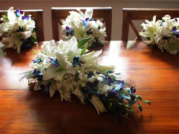blue-orchids-white-lilies-bouquet
