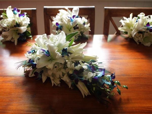 blue-orchids-white-lilies-bouquet