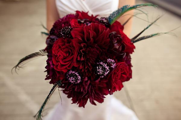 Red Art Deco Bouquet