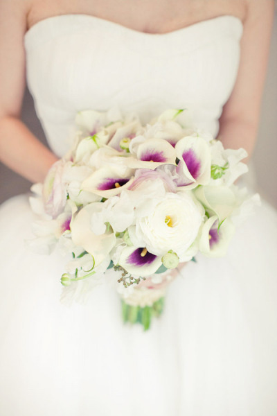 white, purple bouquet