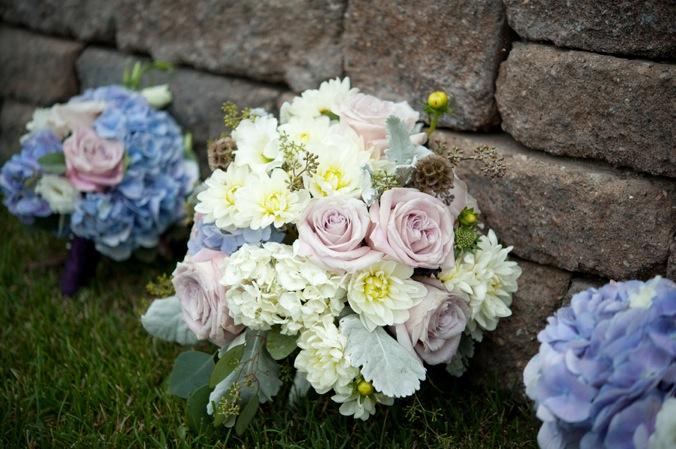Light Purple Blue White Bouquet